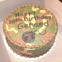 Camouflage Cake This was done for a friend's son that just joined the military. All buttercream icing over alternating layers of chocolate and...
