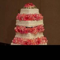 Elegant Romance Floating 4 Tier with Fresh Roses