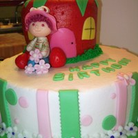 Strawberry Shortcake Butter flavor dh cake mix with bc icing and mmf accents and figurine made for mmf . Client sent me 3 differnt photos and just told me to...