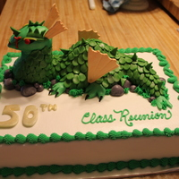 Dragon This cake was inspired by DianeLM photo , I didnt do hers justice but it was an ok first dragon . Its a class reunion cake with their...