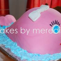 Pink Whale  My first whale....don't like how front bottom didn't curve in. This client....made her bridal shower, wedding cake, birthday...