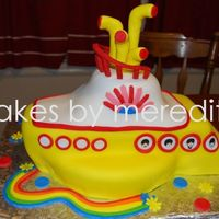 Beatles Yellow Submarine My first stab @ the Yellow Submarine. For a gal's 50th bday.