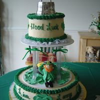Leprachun Cake This cake was done for a couple who were having a St. Patrick's Day wedding.