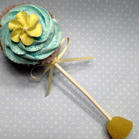 Baby Rattle Cupcake Just practicing for a baby boy shower.