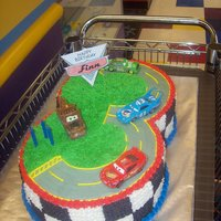 Cars Got the idea from tdybear1978, my best cake yet!