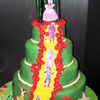 "Wizard Of Oz For ""make A Wish"" Gala  I donated this cake for the ""Make A Wish"" gala, whose these was ""Wizard of Oz"". The emerald city is pulled sugar, the..."