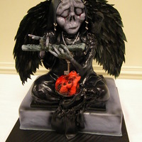 Angel Of Death Cake   Inspiration for this cake an awesome design by Kristoffer Frisk. Cake covered with fondant and sculped using RKT. Some chocolate as well