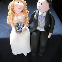 Bride And Groom Fondant Figures My first ever bride and groom fondant figures. I've made one fondant figure before (baby in my photos) to practice for this. Special...
