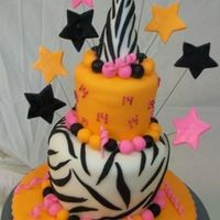 Jasmine 14 I did this one for my nieces 14th b-day... She loves Zebra print and saw thsi cake online and wanted it... I forget where we saw it now I...