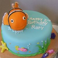 Nemo I did this for a client... all she wanted was a small cake for a 2 year olds birthday. She said the little girl loved under the sea and...