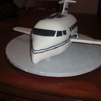 Corporate Jet   For my boss's bday. Man, my hands were shaky doing the lines on the sides!!