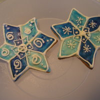 Snowflakes With A Twist... These were a blast to make..royal icing and rolled buttercream.