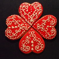 Valentine To Come rolled buttercream and royal icing..getting ready for Valentine's Day..this had a swedish look to it when I finished..thanks for...