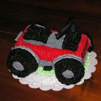 4-Wheeler A 4-Wheeler cake that I did for my office managers son on his 15th bday. He is a 4-wheeler fanatic and had just gotten a new RED one for...