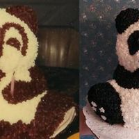 Panda Bear Remake The original cake is 27 years old. I did not get to see the original cake until after I had made the cake!