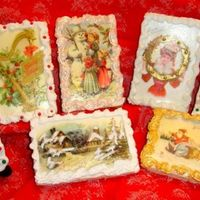 Vintage Christmas Card Cookies