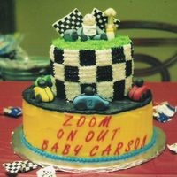 Zoom On Out Baby Carson I did this for my best friend's baby shower...she did her baby's room in cars and racing.