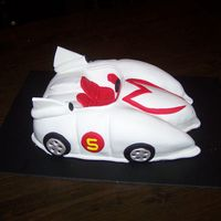 Speedracer chocolate cake, BC filling, all the rest fondant
