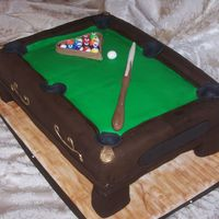 Pool Table red velvet cake, everything fondant