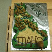 Idaho Going Away Made this for a going away party thrown by a co-worker. His friends had been stationed here in Idaho for a few years, and he wanted them to...