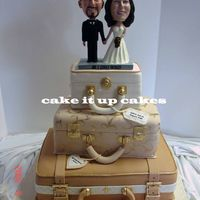 """bermuda Or Bust""  Fondant covered cake with GP details. Topper was provide by the bride and groom. For a lovely couple who wanted to celebrate their love for..."