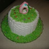 Easter Basket Cake. This was made in a short time so was not able to make the handle in advance with fondant as I wanted to. Hope you share any comments on...