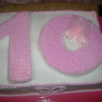 Happy 10Th B-Day Butterfly Cake This was a last minute request for my niece.I had no idea what to do when she asked me for a #10 cake.So I went with the butterflies.Hope...