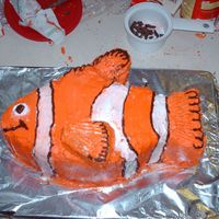 Nemo  Nemo from the Disney Movie made by my 16 year old daughter for her nieces 4th birthday. This is the first cake creation for my daughter...