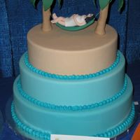 Display From Ices Convention This is one of the display cakes that I took to the ICES convention. It is a pregnant lady laying in a hammock between two palm trees....