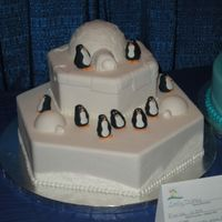 Igloos And Penguins This was my second cake for the ICES convention. It was a two layer hexagon cake with gumpaste igloos and penguins. I loved this cake more...