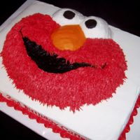 Elmo On Half Sheet Cake