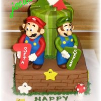 Mario & Luigi A friend had been searching all around the local bakeries to have a Mario Brothers cake for her twins birthday with no luck. I had a full...