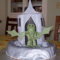 Cthulhu This was a Cthulhu cake I made for my husband's birthday. It's all fondant.