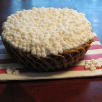 Popcorn Cake Bowl of popcorn made with buttercream from Collette Peters inspiration