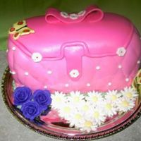 Purse Cake This is my first attempt at 3D and fondant. The cake is chocolate and vanilla layers with raspberry filling.