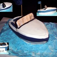 Boat Groom's Cake I enjoyed trying a cake like this. I semi-followed the directions in Debbie Brown's Naughty Cake book. It was made to look like a boat...