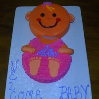 Baby Girl  Here is my version of Baby Cake. There are so many nice ones here, thanks for all the inspiration. I did mine with 2 10 in rounds, top...