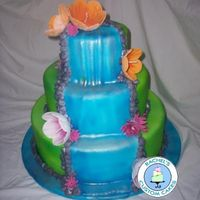 Tropical Waterfall Cake   Inspired by ailyn222.