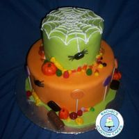 Halloween Candy Cake   Inspired by Rebecca Sutterby's cake. This is just a display cake for a Fall Festival.