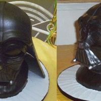 Sculpted Darth Vader Cake I wanted to upload another picture of my darth vader cake that had a view from the side as well.