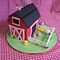 Barnyard Made this barn and animals for my daughters 5th birthday. the animals are gumpaste and the barn is strawberry cake with white chocolate...