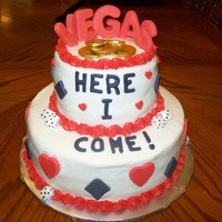 Going To Vegas   10in and 6in buttercream with fondant and gumpaste decorations