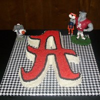 Bama Grooms Cake   choc. cake with buttercream icing, stared
