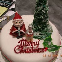 Little Santa Christmas Cake