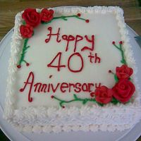 40Th Anniversary Cake This was for a lady at work...she wanted something simple so this is what i came up with!