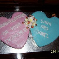 Cute Heart Engagement Cake this was for my little sister's Engagement party last month.. she absolutly loved it :)