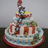 Another Pic Of Dr. Seuss Cake   This one is a little less fuzzy, i would love some feedback on anything. Thanks