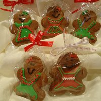 Gingerbread Girls Gingerbread cookies; decorated with royal icing.. tfl