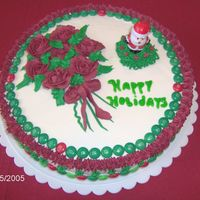 Christmas Bouquet Cake