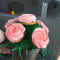 Cupcake Bouquet  I made several of these for mothers day, everybody loved them!!!!! thanks Cambo. This is in a pot, the other was in a long planter, in my...
